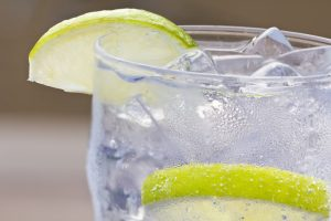 Cold Drink with Lime Slices