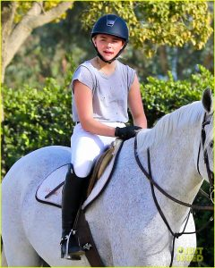 "Exclusive... 51925165 ""Neighbors 2"" actress, Chloe Moretz was spotted riding a horse in Los Angeles, California on December 8, 2015.  News recently surfaced that Chloe would star in ""The Little Mermaid"" but will not be sporting red hair. FameFlynet, Inc - Beverly Hills, CA, USA - +1 (818) 307-4813"